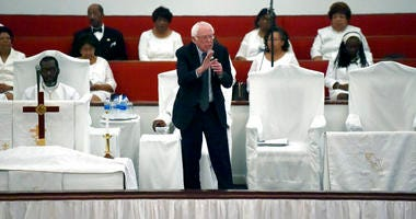 Democratic presidential hopeful Bernie Sanders speaks to a congregation at Reid Chapel AME Church on Sunday, Dec. 1, 2019, in Columbia, S.C.