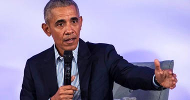 In this Oct. 29, 2019, file photo, former President Barack Obama speaks during the Obama Foundation Summit at the Illinois Institute of Technology in Chicago.