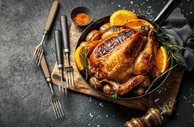 grilled chicken, food