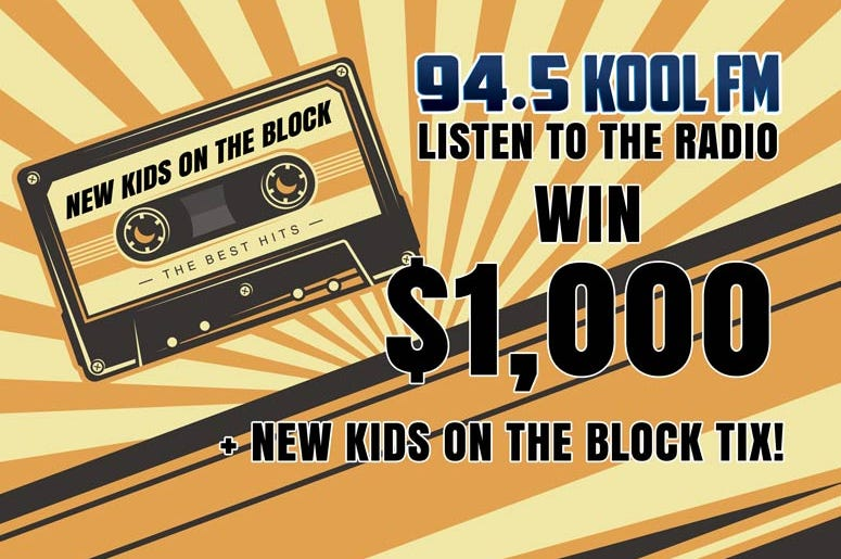 $1,000 CASH + NEW KIDS ON THE BLOCK TICKETS = SECRET CONTEST!