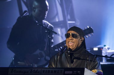 Apr 27, 2018; Montgomery, USA; Stevie Wonder performs during the Concert for Peace and Justice at Riverwalk Amphitheatre. Mandatory Credit: Mickey Welsh/Advertiser via USA TODAY NETWORK