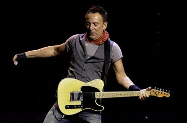 Feb 16, 2016; Sunrise, FL, USA; Recording artist Bruce Springsteen performs during The River Tour 2016 at the BB&T Center. Mandatory Credit: Ron Elkman-USA TODAY NETWORK