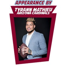Tyrann Mathieu of the Arizona Cardinals