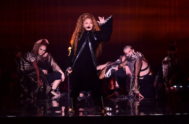 11/4/2018 - Janet Jackson performs on stage at the MTV Europe Music Awards 2018 held at the Bilbao Exhibition Centre, Spain. (Photo by PA Images/Sipa USA) *** US Rights Only ***