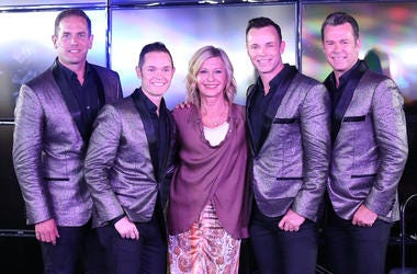 "18 August 2016 - Las Vegas, Nevada - Olivia Newton John, Human Nature. Official Launch of ""The Weekend in Vegas"" hosted by Jeff Civillico at The LINQ Promenade. Photo Credit: MJT/AdMedia"