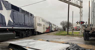 TRE Train Hits Truck At Crossing In Fort Worth