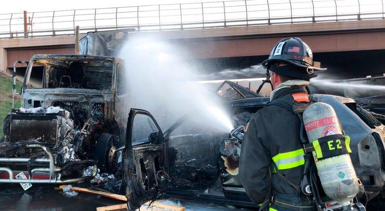 Colorado Fatal Truck Crash And Fire