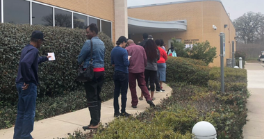 Lines At Texas Polling Stations