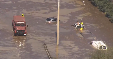 Water Main Break Causes Flooding in Houston