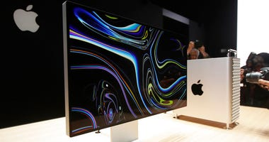 a monitor of the Mac Pro is shown in the display room at the Apple Worldwide Developers Conference in San Jose, Calif. On Friday, June 28