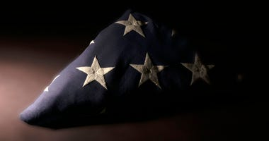 Military Funeral, Folded Flag