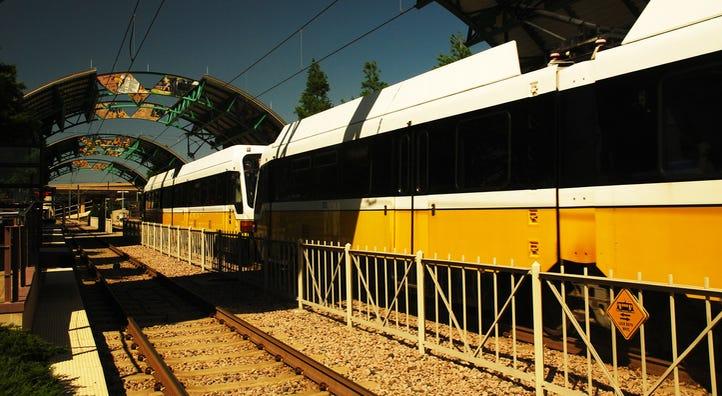 Dallas DART train