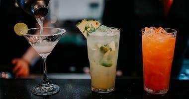 Mixed Drinks at a bar
