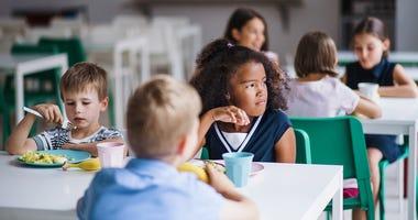 Kids eating food