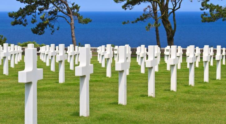 American military cemetery near Omaha Beach, Normandy