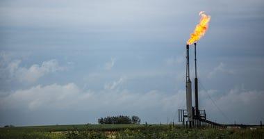 Oilfield Gas Flare
