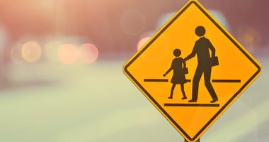 Crosswalk, School Zone,