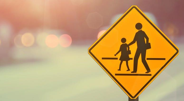 Crosswalk, School Zone,
