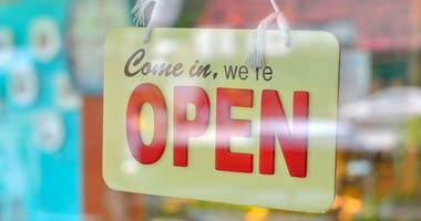 Open Sign on store