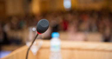 City Council Podium, Microphone