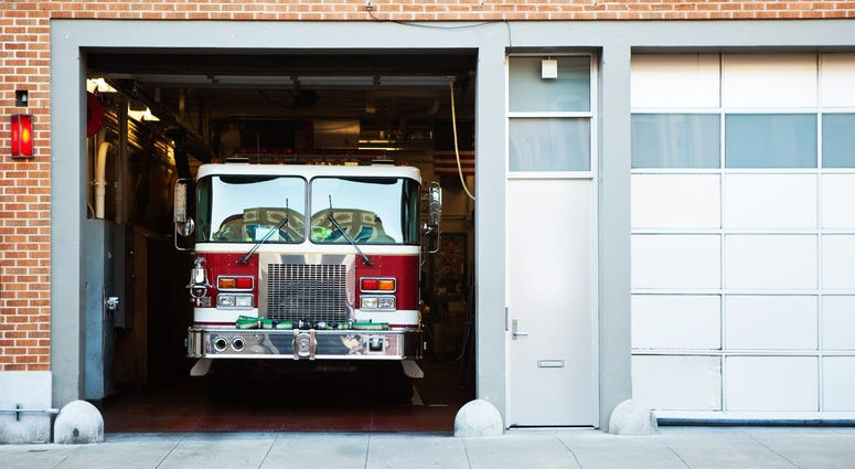 Fire Truck in Station