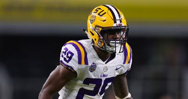 Greedy Williams lines up at cornerback for LSU during the 2018 season.