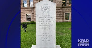 monument outside the Tarrant County Courthouse