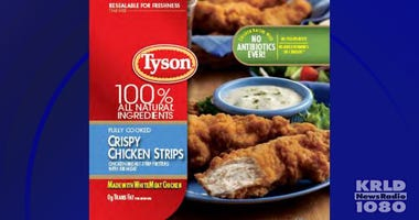 Tyson frozen, ready-to-eat chicken strips