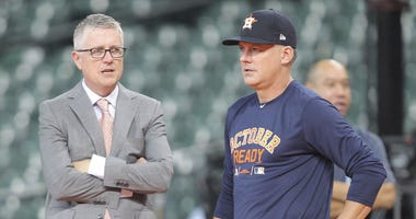 Houston Astros general manager Jeff Luhnow and  manager AJ Hinch