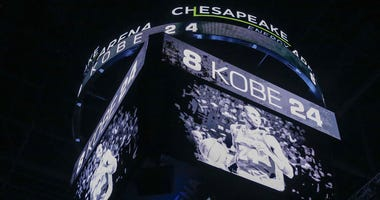 The Oklahoma City Thunder have a moment of silence for Kobe Bryant before the start of a game against the Dallas Mavericks at Chesapeake Energy Arena.