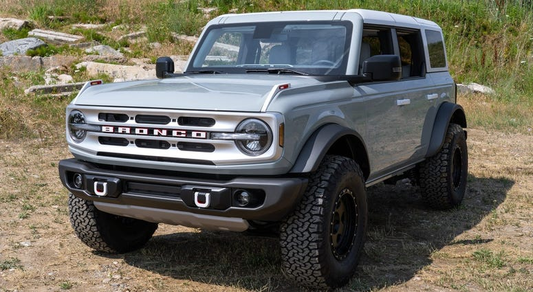 The front of a Ford Bronco 4-door