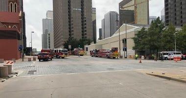 Downtown Dallas Gas Line Break