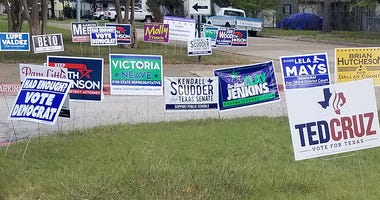 Political campaign signs 2018