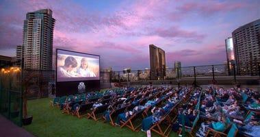 Houston Rooftop Movie Theater