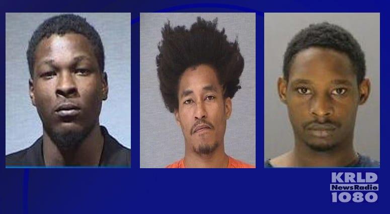 Garland Murder Suspects: Tristan Bowles (middle), Darrell Nash (right), Chavez Nash (left)