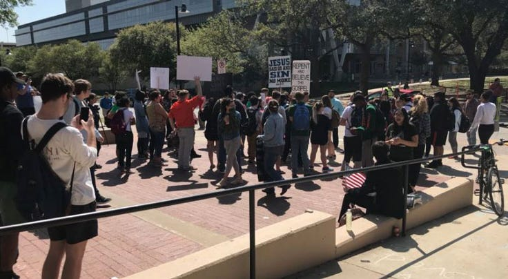 UNT Protest