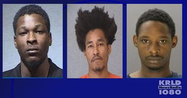 Garland Murder Suspects: Tristan Bowles (middle), Darrell Nash (right), Chavez Nash (left)