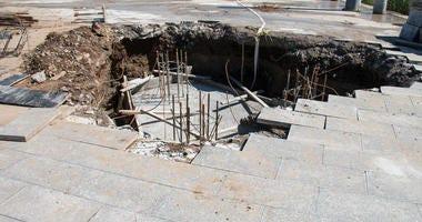 Sinkhole in Granbury Repaired
