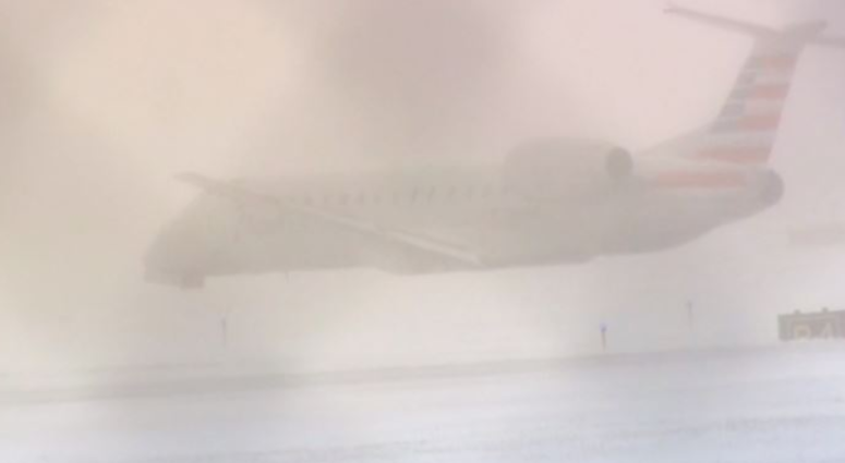American Airlines Plane Slides Off Runway