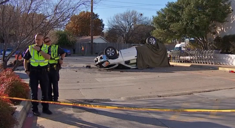 Arlington Police Chase, Crash
