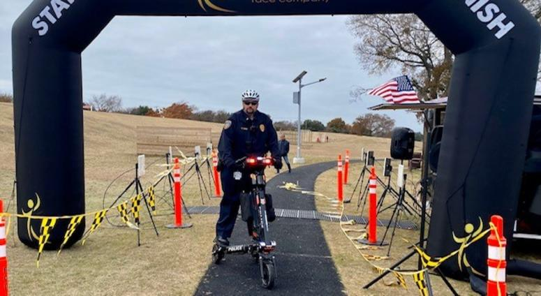 DCCCD Police Lt. Keith Clicque on Trikke