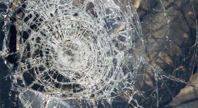 Broken Truck Window