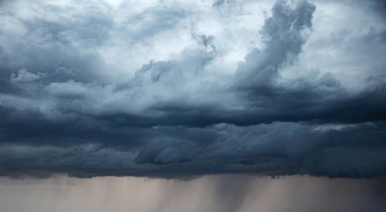 Stormy sky and rain