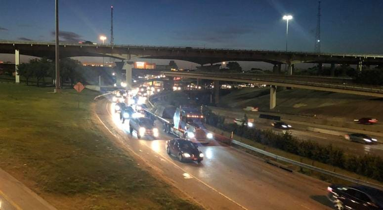 Wrong Way Crash Shuts Down Dallas Highway
