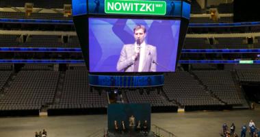 Dirk Nowitzki Street Ceremony