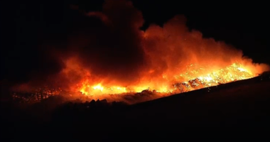 Recycling Plant Fire In Waxahachie