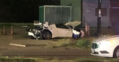 Wrecked Ferrari