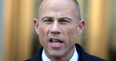 In this Thursday, April 26, 2018, file photo, Michael Avenatti, Stormy Daniels' attorney, talks to reporters outside of federal court in New York.