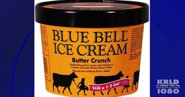 Blue Bell Butter Crunch Ice Cream Recall