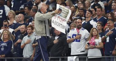 Protester At Cowboys Stadium